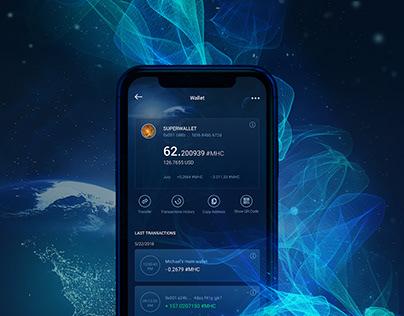 UX/UI for blockchain BTC, ETH & MHC wallet