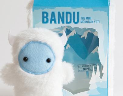 Bandu, the Mini Mountain Yeti Package Design