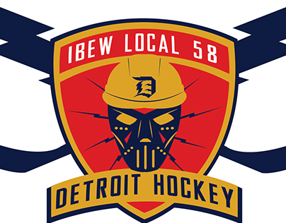 IBEW Local 58 Hockey Team Logo
