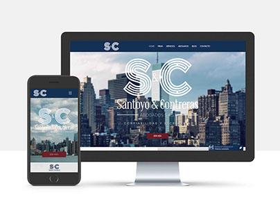 Web Site Santoyo & Contreras Abogados S.A.S