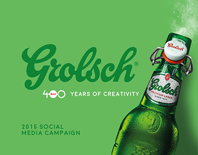 Grolsch 400 years of creativity. 2015 SM Campaign