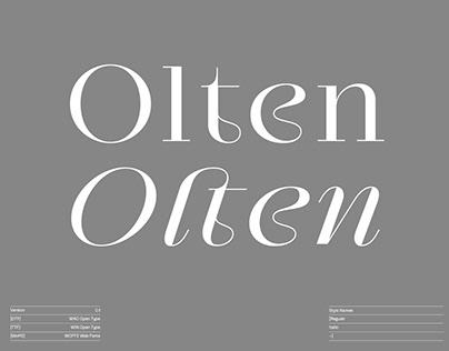 Olten™ Typeface