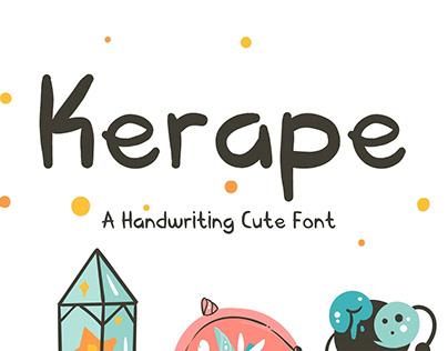 Free - Kerape Handwriting Font