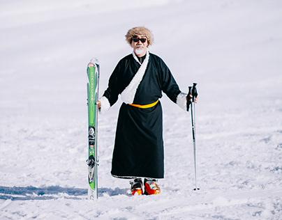 Skiing in Spiti