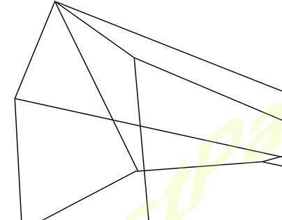 착시현상적인 육각기둥/Illusion of hexagonal columns