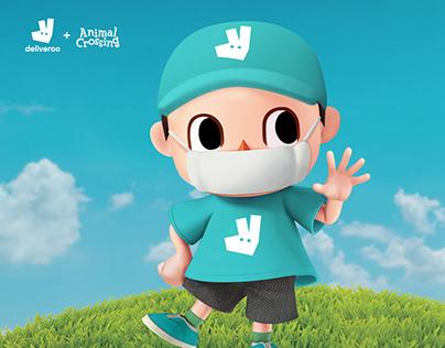 Deliveroo x Animal Crossing