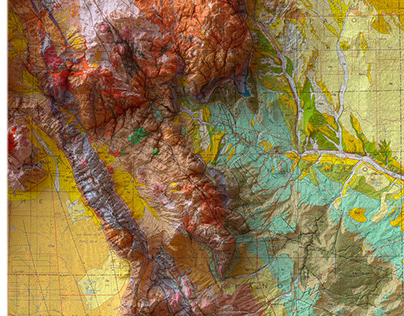 States of America - Geologic 3D Cartography