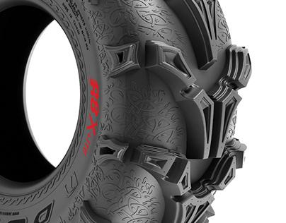 Quad bike tire design