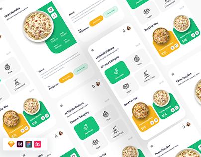 Free Food UI Template Sketch Figma XD