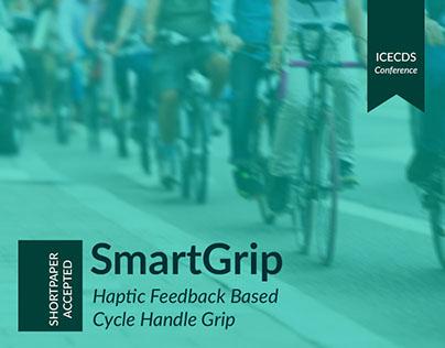 SmartGrip : Haptic feedback based cycle handle grip