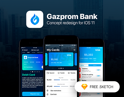 Gazprom Banking. Concept redesign for IOS 11