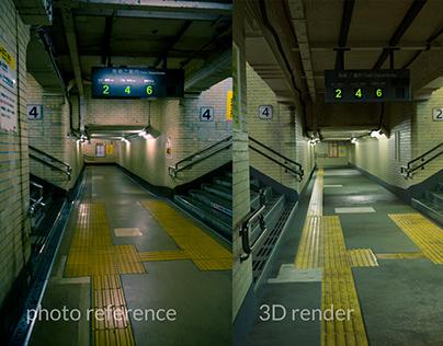 Achieving photorealism in Blender - Subway Challenge