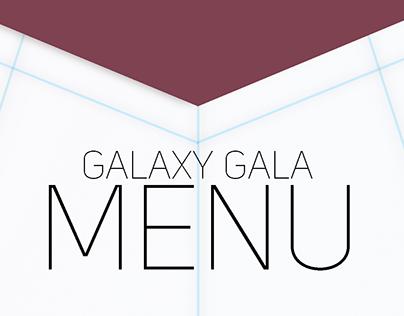 """Galaxy Gala"" Invite Menu"