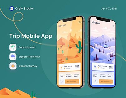 Trip mobile app design