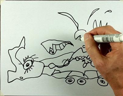 """""""Caterpillar Truck"""" - playful tractor-trailer (video)"""