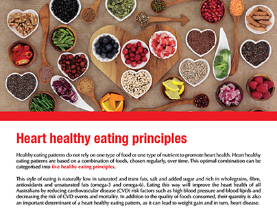 Heart healthy eating principals