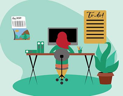 Remote Work Illustration for ARC Technology Blog
