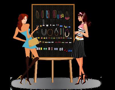 Shopping Illustration Design