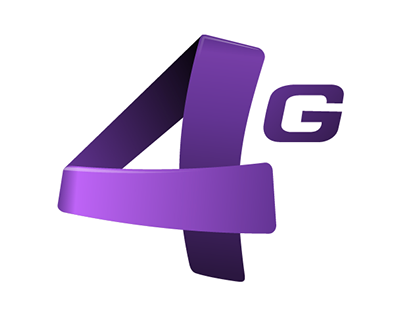 4G LTE logo for Kcell Kazakhstan
