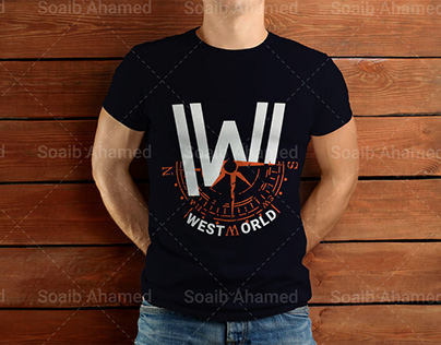 West World Series T-Shirt free Mockup download