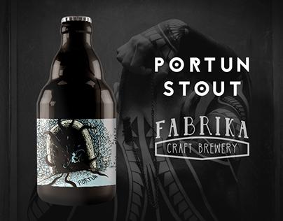 Portun - Beer Label Illustration