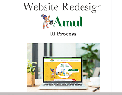 Amul website redesign