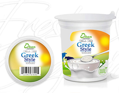 Package Design or Orban Creamery