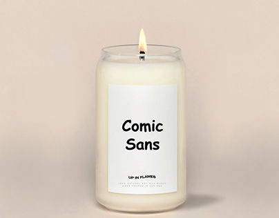 Comic Sans Candle - Up In Flames Candle Co