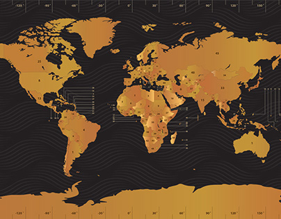 Numbered World map
