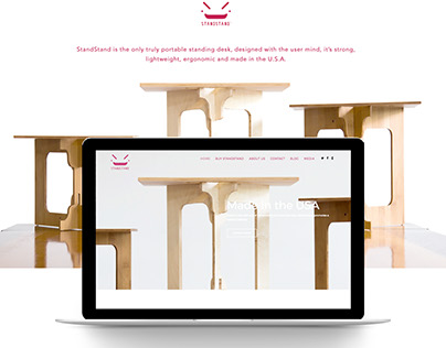 StandStand Website UI Design