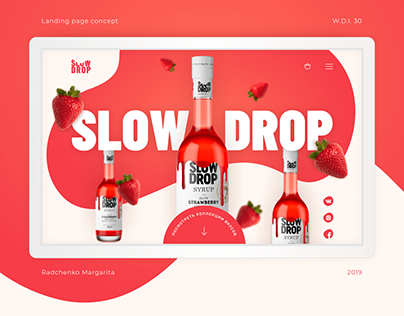 Landing page for bar syrups