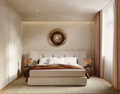 Фрагмент визуализации спальни и фантазийный рендер