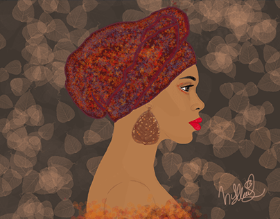 Afro Woman Portrait