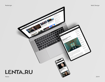 This project is a redesign concept for Lenta.ru