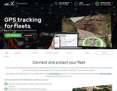 MiX Telematics Global GPS Tracking Page