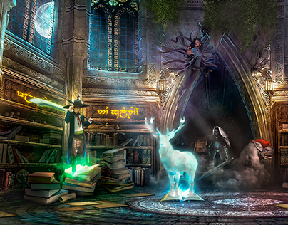 Living library of fantasy heroes