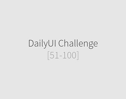 DailyUI Challenge [51-100]