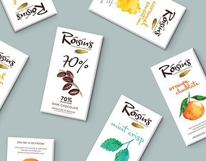 Róisín's Handmade Irish Chocolate Packaging Design