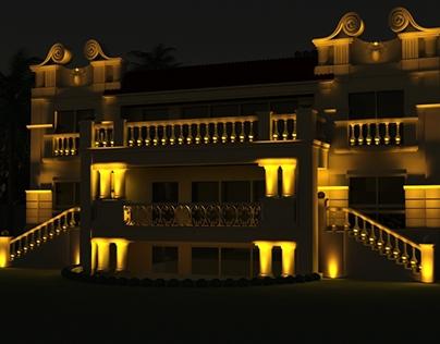 Taba Villa, Exterior Decorative Lighting Building