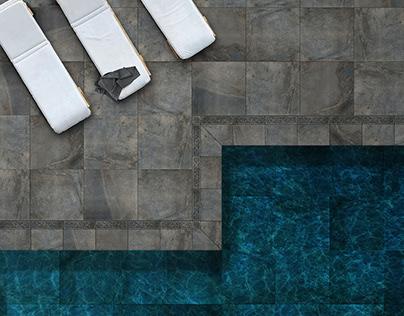 Pool design with Florim Ceramiche Tiles