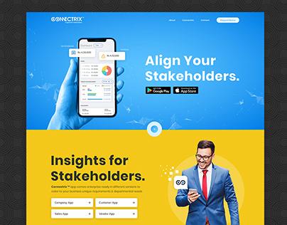 Connectrix App Website Design
