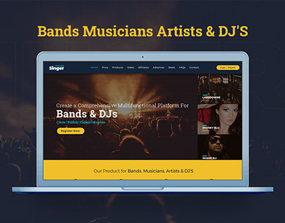 Artist Web App Design