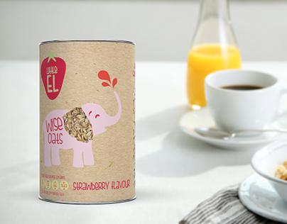 Branding - Little El, Children's Flavoured Porridge