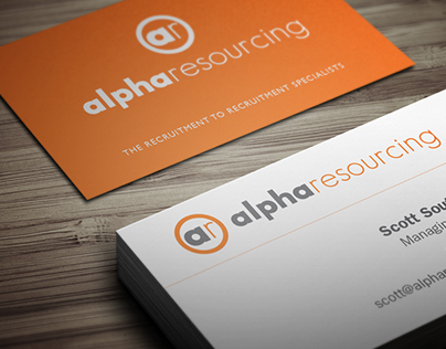 Branding, Stationery and Website - Alpha Resourcing