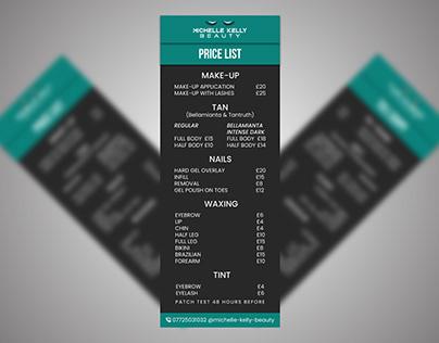 Price List