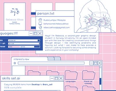 Resume + Portfolio : Tabs