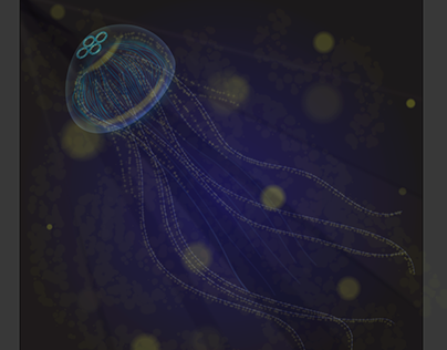 A Jellyfish In Nutrient Dense Water