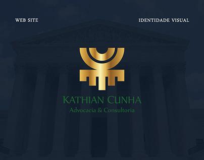 Identidade Visual e Website - Kathian Cunha Advocacia