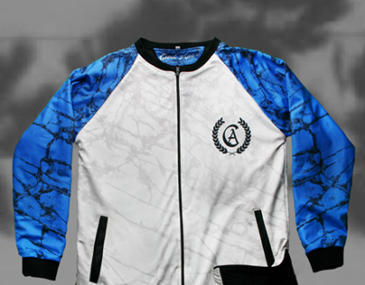 Blue Block Jacket | Apparel Design - Textile Print