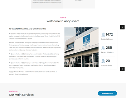 Website for Al Qasaem Trading & Contractors